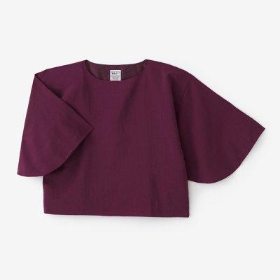 モスリン 薙刀四角衣(なぎなたしかくい)/紫檀色(したんいろ)