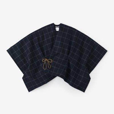【net限定】梳毛 きさらぎ 短丈/濃紺格子(のうこんごうし)