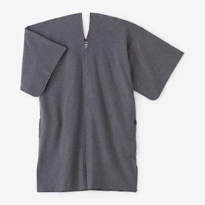 圧縮ブークレ編 小袖貫頭衣(こそでかんとうい)/鉛色(なまりいろ)