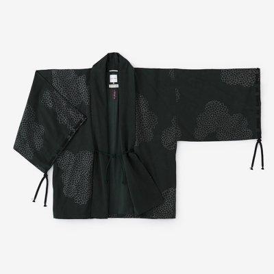 【net限定20%OFF】テンセル 宮中袖 短衣 単(きゅうちゅうそで たんい ひとえ)/雲間に菊 深緑色(くもまにきく しんりょくしょく)