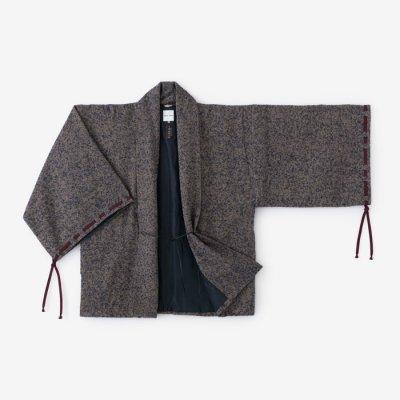 【net限定】ツイード 宮中袖 短衣 袷(きゅうちゅうそで たんい あわせ)/紺金杢(こんきんもく)