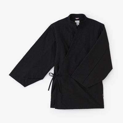 斜子織 手柄作務衣(ななこおり たかみさむえ)/濡羽色(ぬればいろ)
