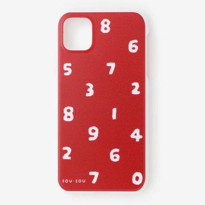 iPhone_11 テキスタイルカバー/SO-SU-U 紅色
