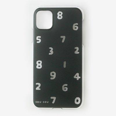 iPhone_11 テキスタイルカバー/クリア・SO-SU-U 濡羽色(ぬればいろ)