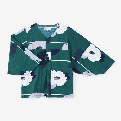 【net限定】薙刀袖襞(なぎなたそでひだ)ジバン/山茶花(さざんか)