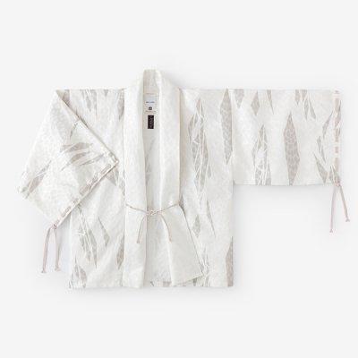 【net限定20%OFF】ジャカール 宮中袖(きゅうちゅうそで) 短衣(たんい) 単(ひとえ)/薄氷破(うすらびは) 白銀斑(はくぎんまだら)