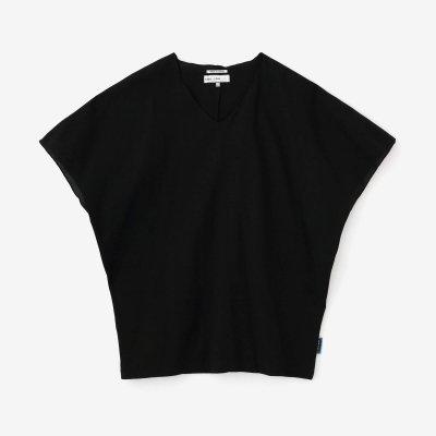 高島縮 40/40 袖なしジバン/濡羽色(ぬればいろ)