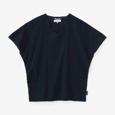 高島縮 40/40 袖なしジバン/留紺(とめこん)