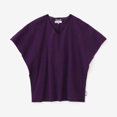 高島縮 40/40 袖なしジバン/紫紺(しこん)