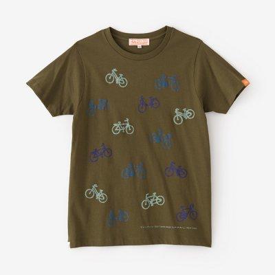 チャリンチャリン 三味 半袖Tシャツ/海松色(みるいろ)