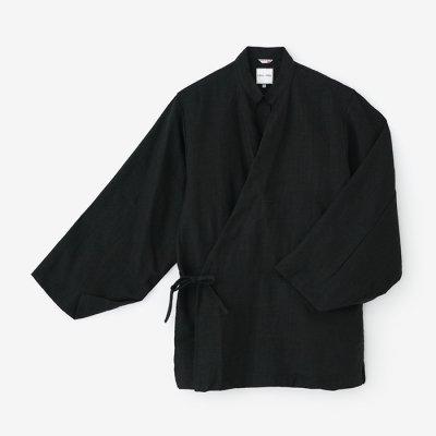 麻 手柄作務衣(たかみさむえ)/濡羽色(ぬればいろ)