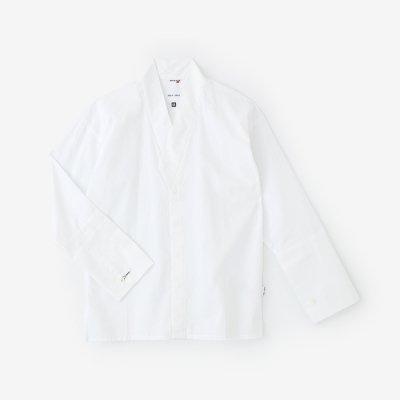 【net限定】綿麻シャンブレー織 筒袖襯衣/つくも