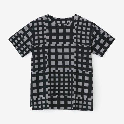 高島縮40/40 半袖Tシャツ/竹矢来(たけやらい)