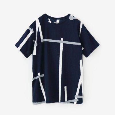 高島縮 40/40 半袖Tシャツ/鳶(とび)