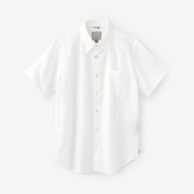 高島縮 20/20 半袖シャツ/つくも