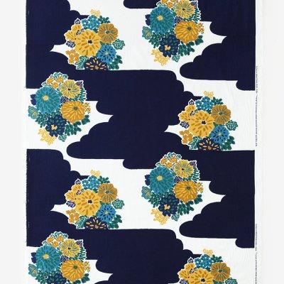 テキスタイル計り売り (高島縮 坂尾織物)/花衣(はなごろも)<50cm>
