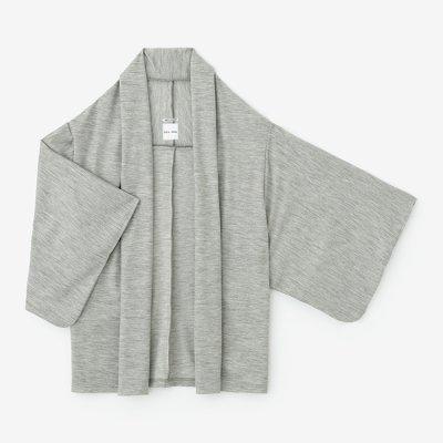 梳毛 両面編 小袖莢(こそでさや)/杢灰(もくはい)