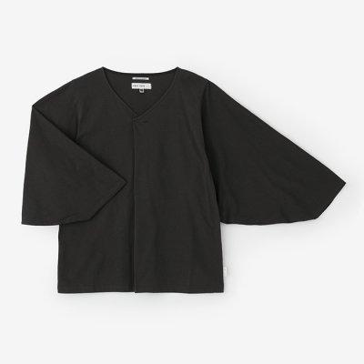 【net限定】薙刀袖襞(なぎなたそでひだ)ジバン/濃鼠(こいねず)