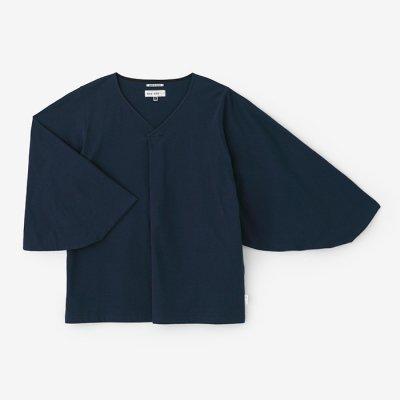 【net限定】薙刀袖襞(なぎなたそでひだ)ジバン/濃紺(のうこん)