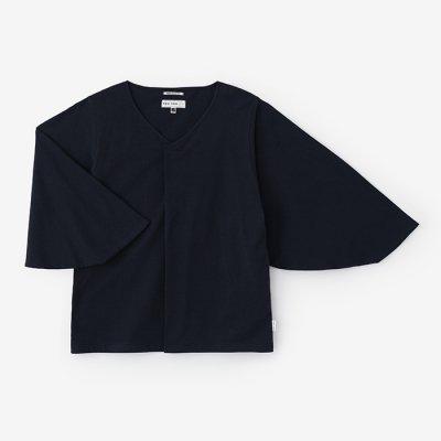 【net限定】薙刀袖襞(なぎなたそでひだ)ジバン/深紺(しんこん)