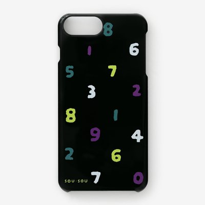 【net限定30%OFF】iPhone 6 Plus/6s Plus/7 Plus/8 Plus テキスタイルカバー/SO-SU-U 四味濡羽色(よつみぬればいろ)