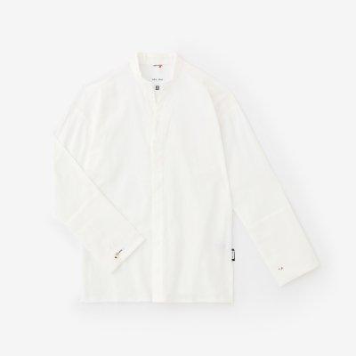 高島縮 立衿 筒袖襯衣(たかしまちぢみ たちえり つつそでしんい)/つくも