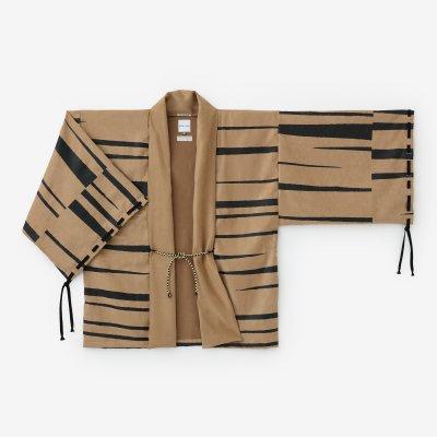フェイクスエード 宮中袖 短衣 単(きゅうちゅうそで たんい ひとえ)/霞(かすみ) 江戸茶(えどちゃ)