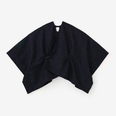 梳毛(そもう) 千鳥格子織(ちどりごうしおり) きさらぎ 短丈(みじかたけ)/紫黒(しこく)