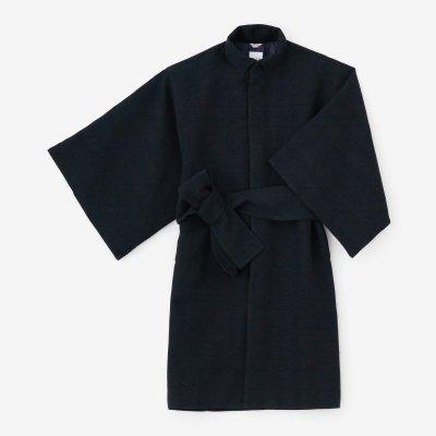 梳毛杉綾織(そもうすぎあやおり) 角袖外套(かくそでがいとう) 袷(あわせ)/深紺(しんこん)