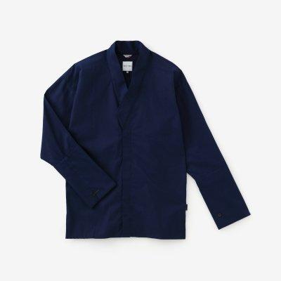 インディゴ 行儀小紋(ぎょうぎこもん) 筒袖襯衣(つつそでしんい)/青褐(あおかち)