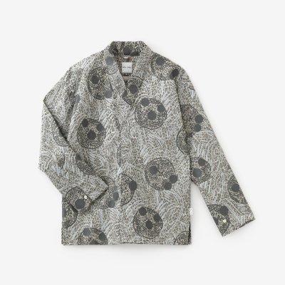 豹斑(ひょうまだら) 筒袖襯衣(つつそでしんい)/草紋(そうもん) 白銀(はくぎん)