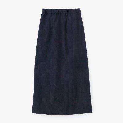ウールストライプ タイトスカート/深紺(しんこん)