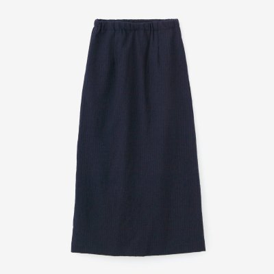 【net限定】ウールストライプ タイトスカート/深紺(しんこん)