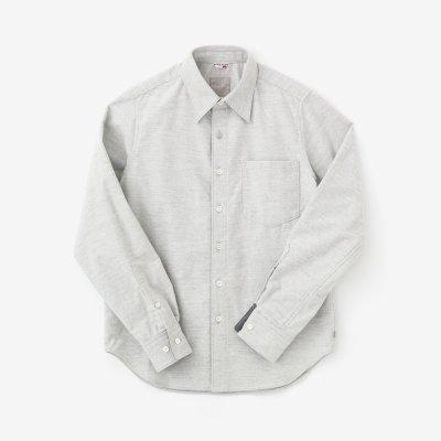 コットンフランネルシャツ/絹鼠(きぬねず)