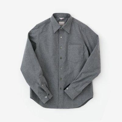 コットンフランネルシャツ/濃灰(こいはい)