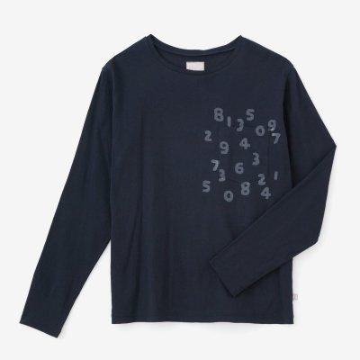 高島縮 40/40 長袖ポケットTシャツ/留紺(とめこん)×SO-SU-U昆(こん)