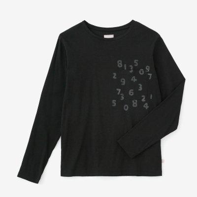 高島縮 40/40 長袖ポケットTシャツ/濡羽色(ぬればいろ)×SO-SU-U昆(こん)