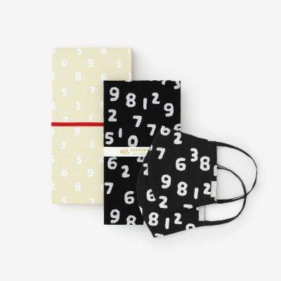 ■【箱入り】手ぬぐい&テキスタイルマスク(L)2枚セット/SO-SU-U昆(こん) 濡羽色(ぬればいろ)<img class='new_mark_img2' src='https://img.shop-pro.jp/img/new/icons55.gif' style='border:none;display:inline;margin:0px;padding:0px;width:auto;' />