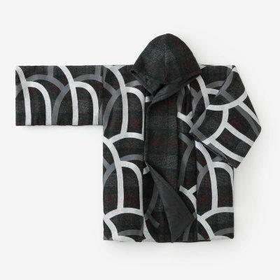 舶来接結織(はくらいせっけつおり) 頭巾外套(ずきんがいとう) 袷(あわせ)/大滝(おおたき)