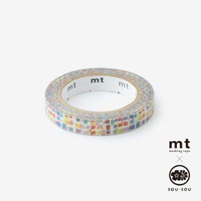 SOU・SOU×mt テキスタイル・マステ/絵具皿(えのぐざら)【0.7cm幅】