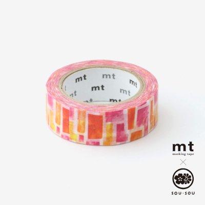 SOU・SOU×mt テキスタイル・マステ/花園(はなぞの)【1.5cm幅】