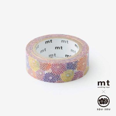 SOU・SOU×mt テキスタイル・マステ/菊づくし【1.5cm幅】
