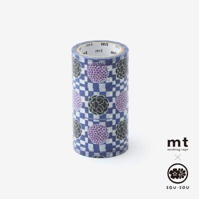 SOU・SOU×mt pocket/霰に華紋(あられにかもん)【7.5cm幅】