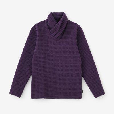 刺編(さしあみ) 衿巻ジバン/濃紫(こきむらさき)