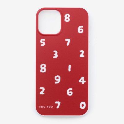 iPhone_12_mini テキスタイルカバー/SO-SU-U 紅色