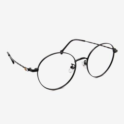 寶島眼鏡×SOU・SOU onepoint 丸型(ブラック)/ほほえみ
