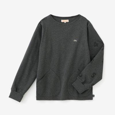 【予約10%OFF】ポンチローマ ボートネックシャツ/消炭色(けしずみいろ)×SO-SU-U(※3月下旬発送予定)