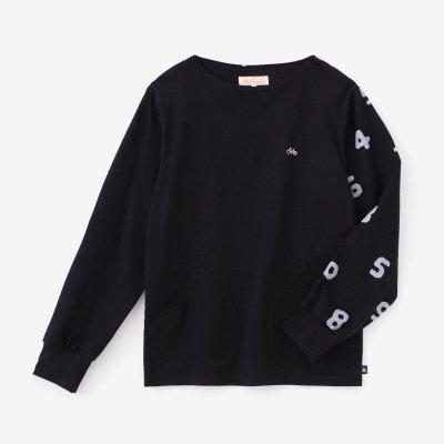 【予約10%OFF】ポンチローマ ボートネックシャツ/深紺(しんこん)×SO-SU-U(※3月下旬発送予定)