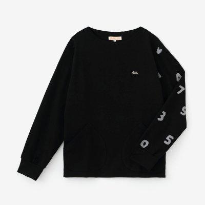 【予約10%OFF】ポンチローマ ボートネックシャツ/濡羽色(ぬればいろ)×SO-SU-U(※3月下旬発送予定)