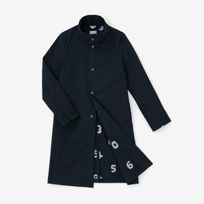 グログランストレッチ スタンドカラー ロングコート/深紺(しんこん)×SO-SU-U